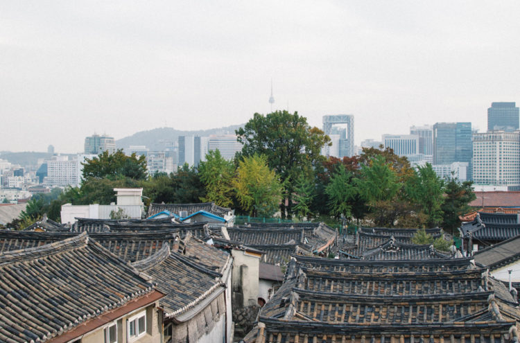 View from an Observatory in Bukchon Hanok Village, Seoul