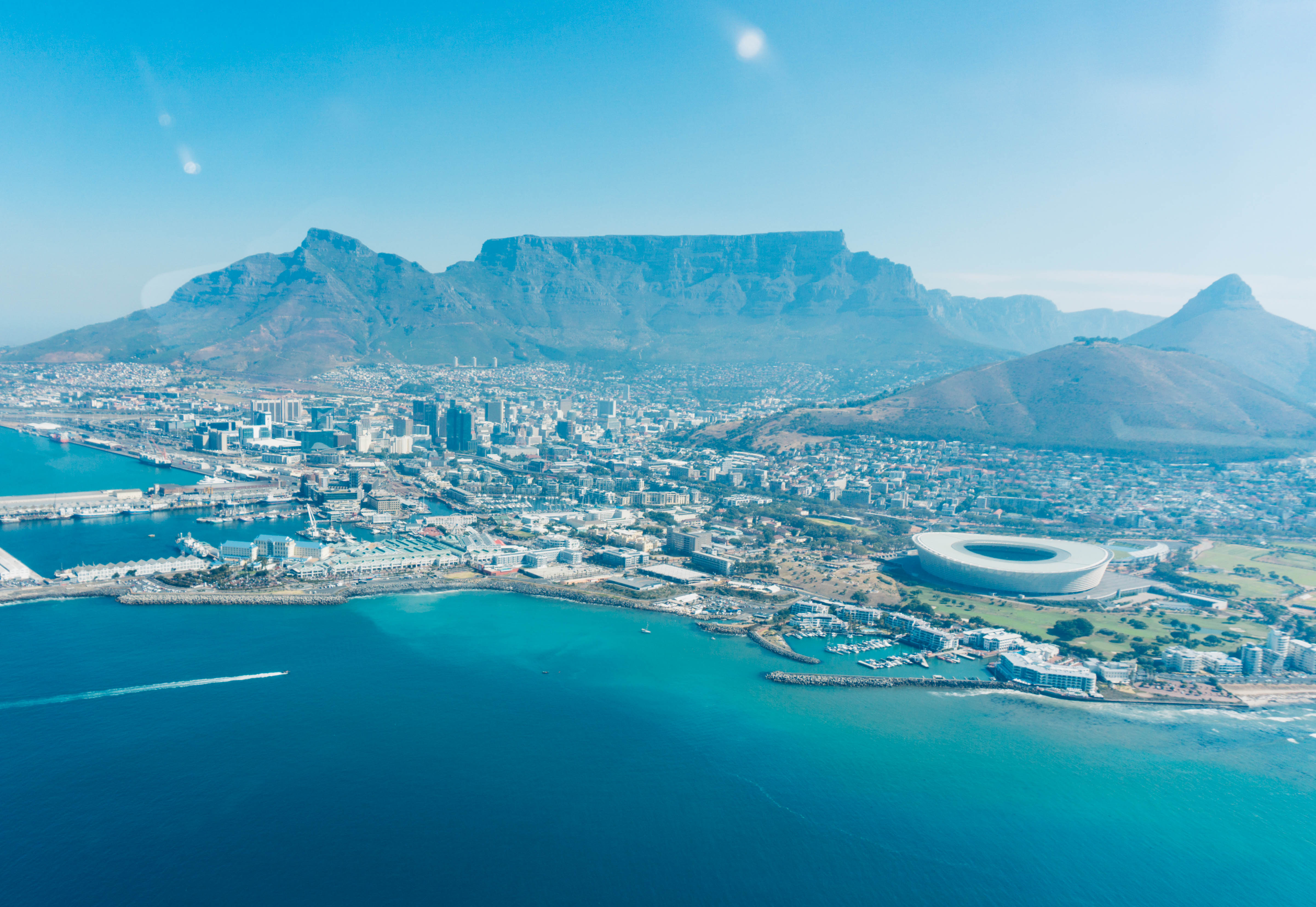 Experiencing a Helicopter Ride in Cape Town