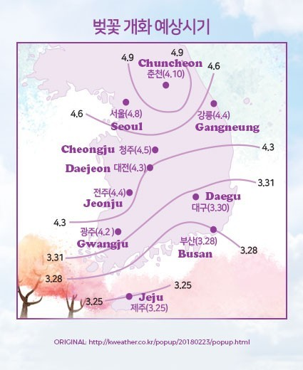 Cherry Blossoms Korea A 2018 Forecast Guide There She Goes Again