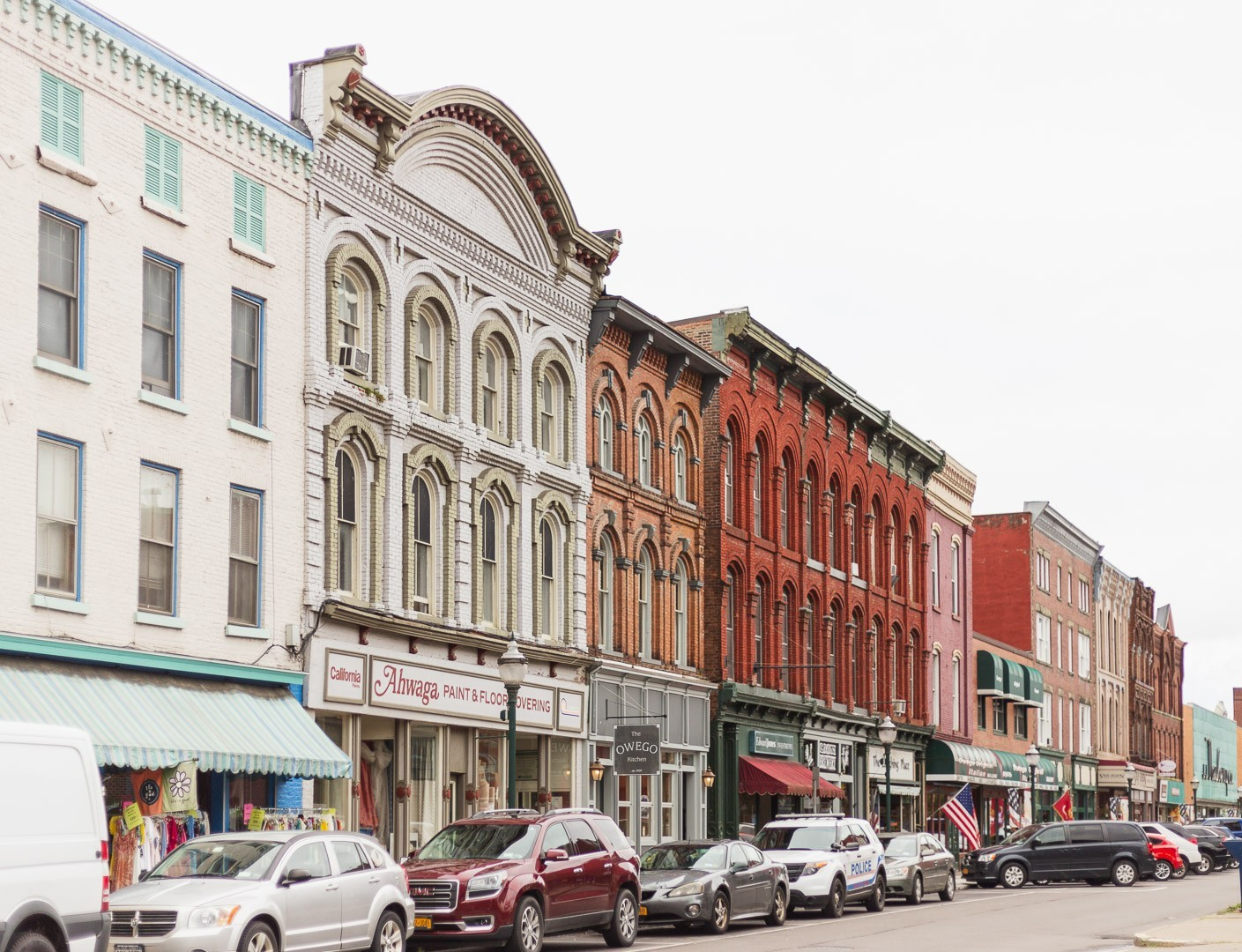The Very Charming Village Of Owego In New York There She